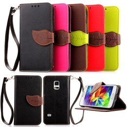$enCountryForm.capitalKeyWord Australia - PU Leaf Leather Flip Fold Wallet Case with [ID&Credit Card Slot] for Samsung Galaxy S3 S4 S5 mini 8190 9190