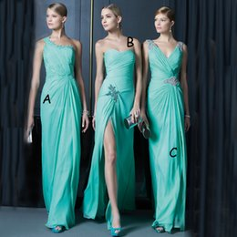 Photos Sexy Chaud Et Sexy Pas Cher-Hot Sales V Neck Une ligne de menthe verte turquoise de demoiselle d'honneur 2016 Nouvelle Collection Dress Cheap Party Formal Vestidos