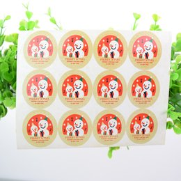 $enCountryForm.capitalKeyWord NZ - 100pcs Christmas Santa Claus Snowman seal stickers decorative DIY Kids gift stickers sealing label seal for Cookie Candy Nuts Package Xmas