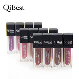 Famous Lipstick Brands Canada - Qibest Matte Lipstick Famous Brand 12 colors Make Up Nutritious Lip