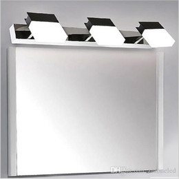 Creative Bathroom Vanity Lights LED Wall Stainless Steel Sconces 8W 10W 2 3 Arms Lighting Makeup Mirror Led Light
