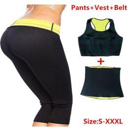 770d0f035426b Wholesale- ( Pants+Belt+Bra) Women Sets Hot Shapers Pants set Women s  Slimming Body Shaper Waist Corsets