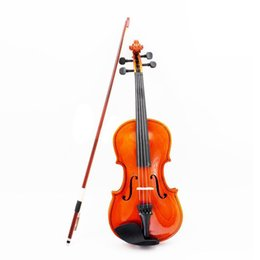 ebony case UK - 1 8 Size Acoustic Violin with Fine Case Bow Rosin for Age 3-6 M8V8