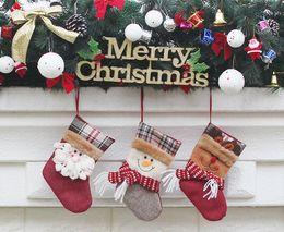 $enCountryForm.capitalKeyWord Canada - 2017 Christmas Stockings Decor Ornament Party Decorations Santa Christmas Stocking Candy Socks Bags Xmas Gifts Bag 3 styles hot sale