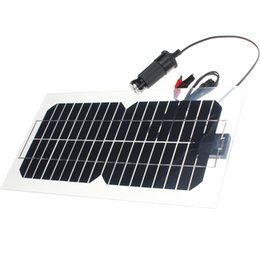 $enCountryForm.capitalKeyWord UK - Hot Sale 5.5W 18V Semi-Flexible Transparent Monocrystalline Silicon Solar Panel solar Cell Sun Engergy Power+2 Clips+USB Charger