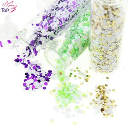 Discount vial charms - Wholesale- 12 Vial Set Snowflake Power Supplies For Charms Nails Design 12 Color Diy 3D Nail Art Rhinestones & Decoratio