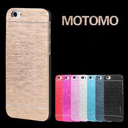 $enCountryForm.capitalKeyWord Australia - For iphone 7 Motomo Brushed Case Aluminium Metal + PC Back Cover Ultra thin Skin Protector Shell for iphone 7 plus Samsung S7 S6 edge