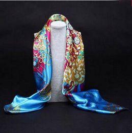 VelVet silk scarfs online shopping - 2016 New Arrival Women Oil Painting Floral house big size cm silk scarf women shawls girl wraps NEW EURO POP Fashion Scarves Female Spr