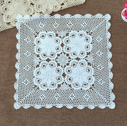 60x60 CM Square Crocheted Cover, Vintage Style Tablecloth, 100% Handmade  Chic Pattern Square Cover For Home Decor, Nice Gift For Mom