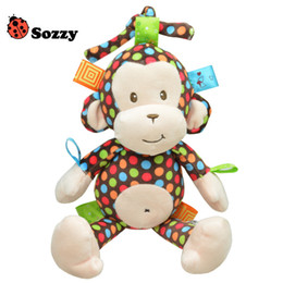 Hanging Monkeys Toy Canada - Plush Baby Toy Sozzy Baby Rattle Toys Monkey Pull Bell Plush Toys Infant music box car hanging bed hanging bell