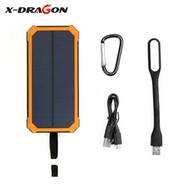 Solar power for tabletS online shopping - Solar Charger Waterproof Solar Power Bank Charge Phones Tablets for Camping Hiking Climbing Outdoors