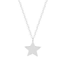 $enCountryForm.capitalKeyWord UK - 10pcs lot Small Star Charm Best Friends Pendant with Chain Necklace Silver Gold Gift for Women Girl Brand Jewelry Christmas Gifts