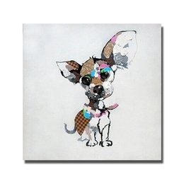 $enCountryForm.capitalKeyWord Canada - Modern Cute Pet Dog Oil Painting Canvas Art Pictures for Bedroom Decoration Hand Painted Animal Oil Painting Home Decor No Framed