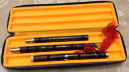 Quality Carved Purple Bamboo Flute Xiao Chinese Musical Instrument in F Key,3 Sections on Sale