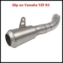 $enCountryForm.capitalKeyWord Australia - Stainless Steel Motorcycle Exhaust Vent Pipe For Scooter Motorcycle Street Bike Slip On Yamha YZF R3