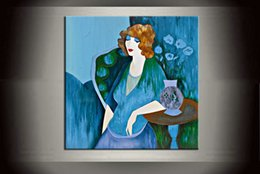 $enCountryForm.capitalKeyWord NZ - Free shipping Modern Wall Art Decor Handpainted Itzchak Tarkay Oil Painting Repro Lady Good Friends For Home Room Decor ART on Canvas It012