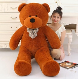 girl toys life size dolls Australia - Big Sale giant teddy bear 160cm 180cm 200cm life size large huge big plush stuffed toy dolls girl birthday valentine gift