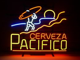 pacifico neon signs 2019 - Neon sign PACIFICO CLARA MEXICAN CERVEZA glass tube Christmas GIFT FAST BLUE real glass tube light handmade bar beer clu