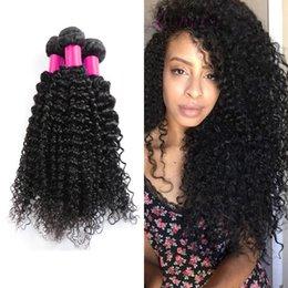 6a Kinky Curly Hair Weave NZ - 6A Brazilian Virgin Hair Kinky Curly 100% Brazilian Human Hair Weave 3 Bundle Cheap Brazilian Curly Virgin Hair Brazilian Kinky Curly