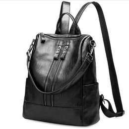 $enCountryForm.capitalKeyWord UK - New Arrival Women's Genuine Leather Backpack Lady Fashion Travel Bag Black High Quality Big Space Design Free Shipping