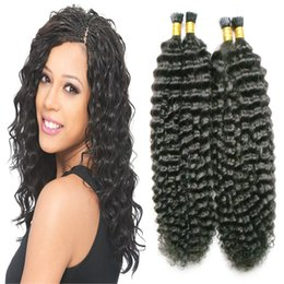 $enCountryForm.capitalKeyWord UK - Nail I Tip hair 100% Remy Human Hair Extensions kinky curly 200g #1 Jet Black Human Fusion Hair 200s afro kinky curly keratin stick tip