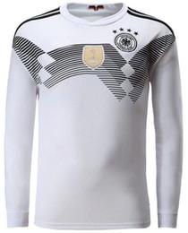 2018 copa del mundo Alemania manga larga casa blanca Soccer Jersey   13  MULLER camiseta de fútbol   10 OZIL   8 KROOS Alemania Fútbol uniformes  ventas 04b7a31ce2eb1