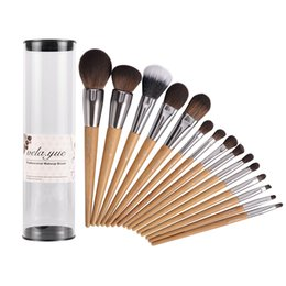 $enCountryForm.capitalKeyWord Australia - Vela .Yue Pro Makeup Brushes Set 15pcs Travel Face Cheek Eyes Lips Beauty Tools Kit With Case Cruelty -Free Technology Collections
