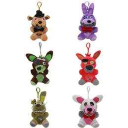 $enCountryForm.capitalKeyWord UK - 15 cm Five Nights Freddie 4 FNAF Plush Toys Freddy Fazbear Maim Chick Bonnie Foxy Plush Toy Pendants Doll Keychains