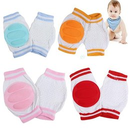 Baby Crawl Pads Canada - Hot! Kids Safety Crawling Elbow Cushion Infants Toddler Baby Protector Mesh Knee Pads
