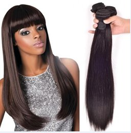 $enCountryForm.capitalKeyWord Canada - 8A High Quality Indian Straght Hair Unprocessed Human Hair Extensions 8-30inch Natural Black Color Soft Dyeable 4pcs lot Free Shipping DHL