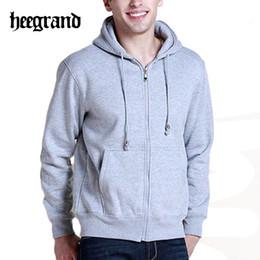 Tracksuits Jacket Canada - Wholesale-Hot Basic Style Men's Hoodies 2016 Autumn Winter Sports Suit Hoodies Men Solid Color Thick Warm Tracksuit Hoodied Jacket MWW633