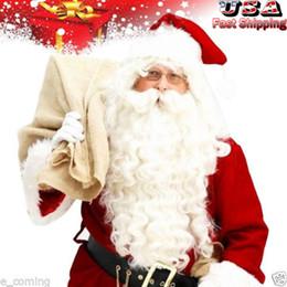 $enCountryForm.capitalKeyWord Canada - free shipping charming beautiful new Best Hot Sell! Santa Claus Beard + Wig Set Father Christmas Fancy Dress Costume Accessory