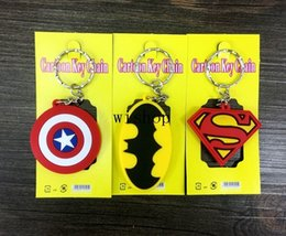 $enCountryForm.capitalKeyWord Canada - New 100pcs Mix Cartoon Superhero Batman Superman Captain America Logo Pvc Key Chains Pendant Children Toy Gifts Party Favors