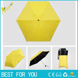 plastic light shades 2019 - Light mini five-fold sunshade sun umbrella-anti-uv shade umbrella black plastic pocket folding clear umbrella pencil umb
