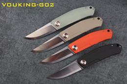 Vente en gros Nouveau couteau de camping Stedemon VOUKING-G02-12C27N avec doublure en acier