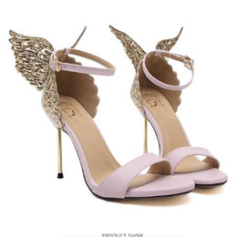China Explosion Models 2017 New Fashion Valentine Shoes Bronzing sequins Butterfly High Heels Sandals Stiletto Party Wedding Sandals suppliers