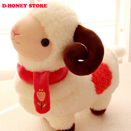 Discount small farm toys - 30cm Sheep Dolls Cute 2pcs lot Goat Plush stuffed Toys Soft Toys Small Sheep Pillow Birthday Kids gift Girl Gifts stuffe