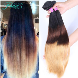 16 22 inch weaves style Australia - New Style Product 9A Grade Indian Ombre Hair Extensions 1B 4 27 Ombre Human Hair Weaves 3 Bundles Lot 10-30 Inch Straight Hair