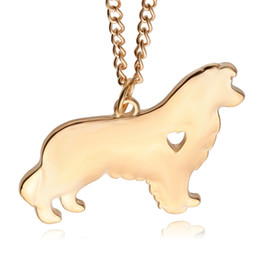 gray jewelry UK - Akita dog necklace Cute design 18K gold plated dog pendant necklace Jewelry beautiful gift silver plated with 55cm chain Polish Dog charm