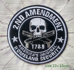 ingrosso patch di sicurezza-2ND EMENDAMENTO America s Original homeland security Iron on Patch ricamata Pantalone regalo borsa pantaloni Vest Individualità