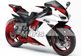 Red White Kawasaki Canada - Fairing For Kawasaki ZX636 ZX6R ZX-636 ZX-6R 07 08 ABS Injection Red White F7669C
