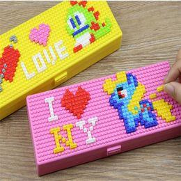 $enCountryForm.capitalKeyWord NZ - Toy Bricks Stationery Box Pencil Cases for Children Boys Girls Creative Building Block School Stationery Holder For Kids Promotional Gifts