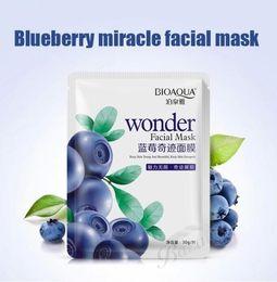 Pig Face Masks Australia - Bioaqua Blueberry Facial Mask Sheet Whitening Skin Lifting Face Masks Face Care Pig Nose Masker Beauty Agless