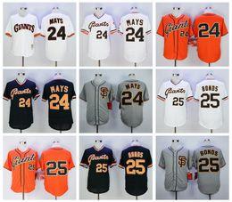68c1869dba15 ... Mlb Player Uniforms Men Flexbase san francisco giants 25 barry bonds 24  willie mays Cool Base Stitched Baseball Jerseys ...
