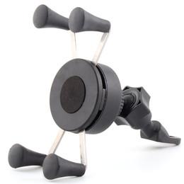 Motorrad-Handy-Halterung - Heavy-Duty-Side-Spiegel-Lenker-Cradle-Halter für jedes Smartphone GPS - für sichere Telefon-Verwendung während auf dem Ro