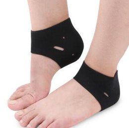 Barato Meias De Tornozelo-1 par / lote Cor preta Elastic Ankle Support Protection Respirável Sport Socks Running Injury Sprain Brace Foot Care
