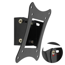 universal lcd mount UK - Universal TV Wall Mount Bracket Fixed Flat Panel TV Frame Support 15 Degrees Tilt Angle for 10-26 Inch LCD LED Monitor HMP_60G