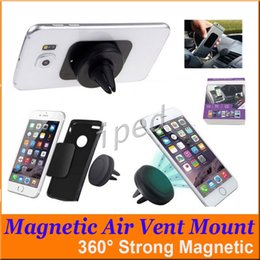 wholesale iphone cell phone docks Australia - 360 Degree Universal Car Holder Magnetic Air Vent Mount Smartphone Dock Mobile Phone Cell Phone Holder for iphone with retail package 30pcs