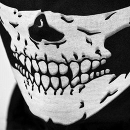 skull half face mask bandana NZ - 2016 Multi Function Skull Face Mask Outdoor Sports Ski Bike Motorcycle Scarves Bandana CS Neck Snood Halloween Party Cosplay Full Face Masks