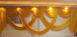 Chinese  6m wide swags of backdrop valance wedding stylist backdrop swags Party Curtain Celebration Stage Performance Background designs and drapes manufacturers